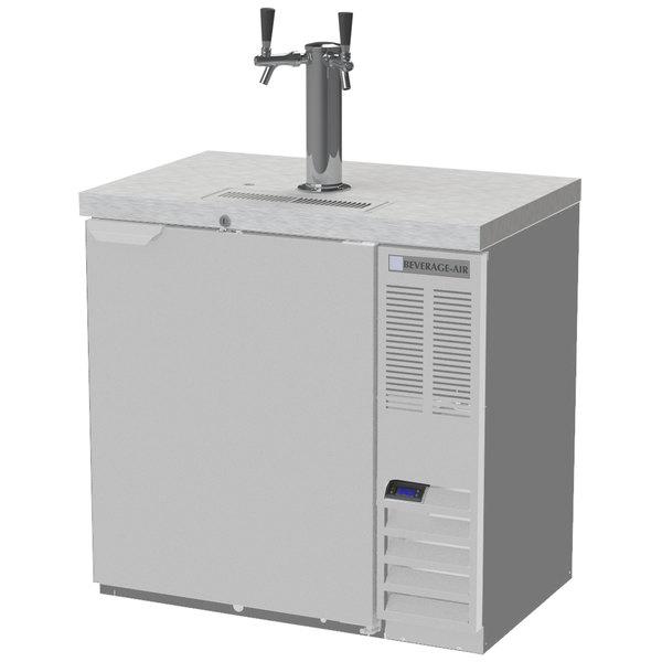 Beverage-Air DD36HC-1-S Double Tap Kegerator Beer Dispenser - Stainless Steel, (1) 1/2 Keg Capacity Main Image 1
