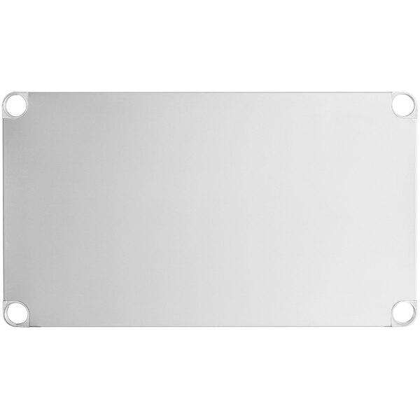 """Regency Adjustable Stainless Steel Work Table Undershelf for 24"""" x 36"""" Tables - 18 Gauge Main Image 1"""