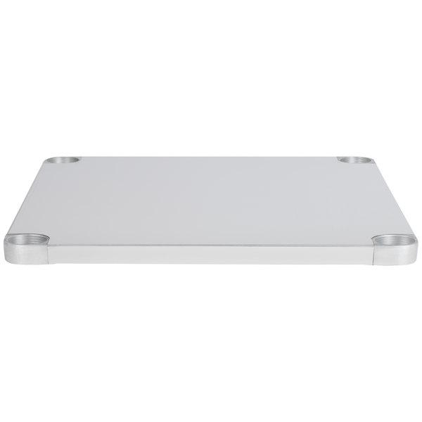 """Regency Adjustable Stainless Steel Work Table Undershelf for 24"""" x 36"""" Tables - 18 Gauge"""