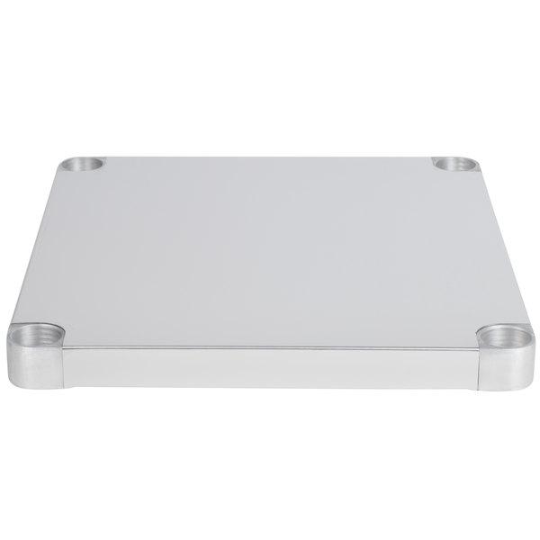 """Regency Adjustable Stainless Steel Work Table Undershelf for 30"""" x 30"""" Tables - 18 Gauge"""