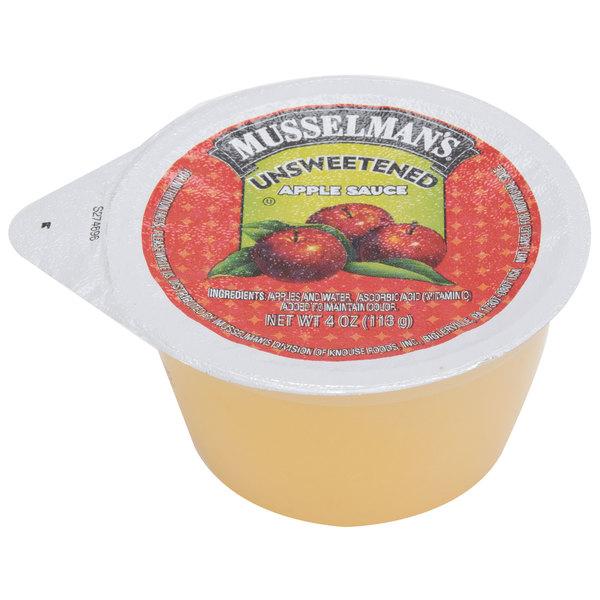 Musselman's Unsweetened Apple Sauce 4 oz. Cups - 72/Case