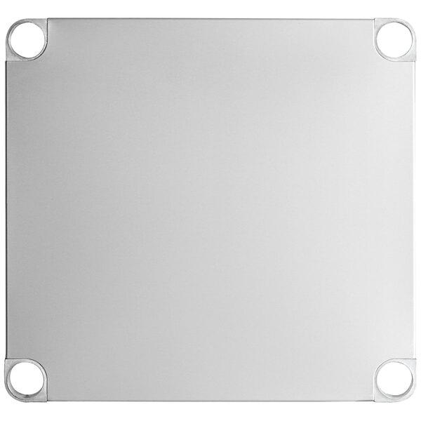 """Regency Adjustable Stainless Steel Work Table Undershelf for 24"""" x 24"""" Tables - 18 Gauge Main Image 1"""