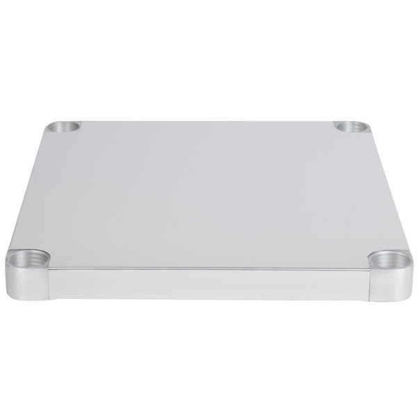 """Regency Adjustable Stainless Steel Work Table Undershelf for 24"""" x 24"""" Tables - 18 Gauge"""