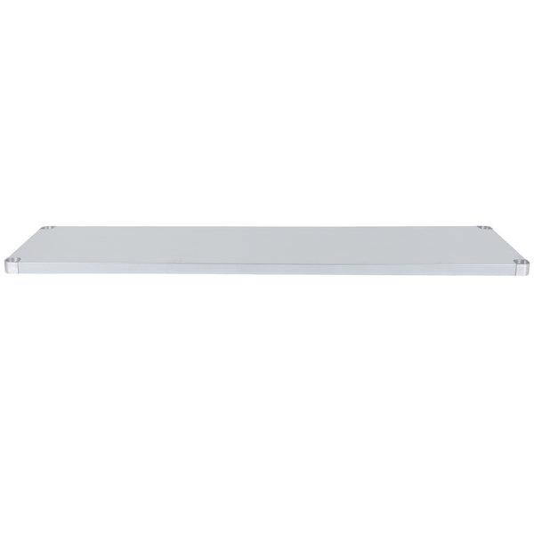 """Regency Adjustable Stainless Steel Work Table Undershelf for 30"""" x 72"""" Tables - 18 Gauge"""