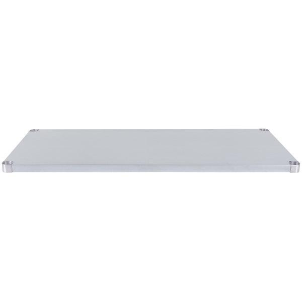 """Regency Adjustable Stainless Steel Work Table Undershelf for 30"""" x 60"""" Tables - 18 Gauge Main Image 1"""