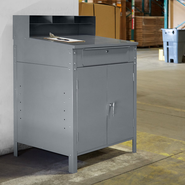 Winholt RDSWN-5 Enclosed Stationary Receiving Desk Main Image 4