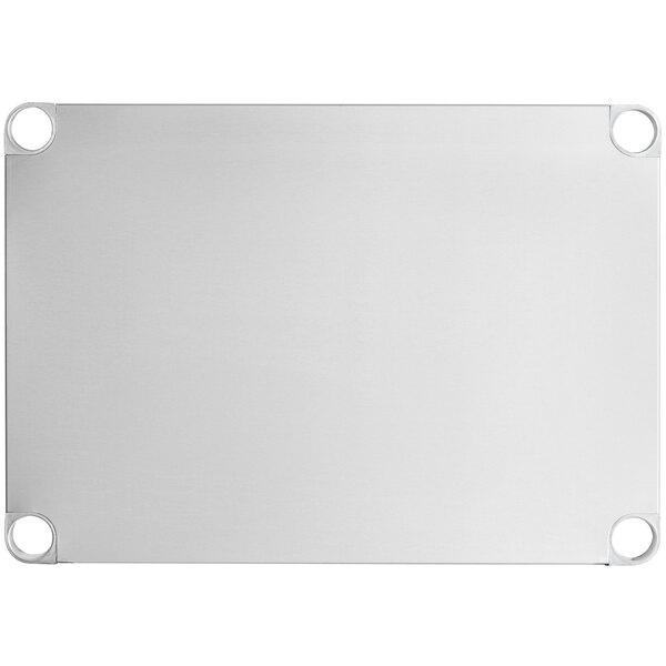 """Regency Adjustable Stainless Steel Work Table Undershelf for 24"""" x 30"""" Tables - 18 Gauge Main Image 1"""