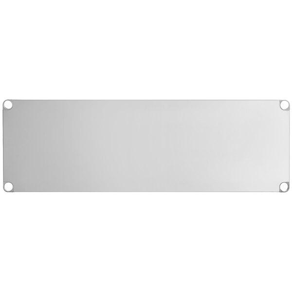 """Regency Adjustable Stainless Steel Work Table Undershelf for 24"""" x 60"""" Tables - 18 Gauge Main Image 1"""