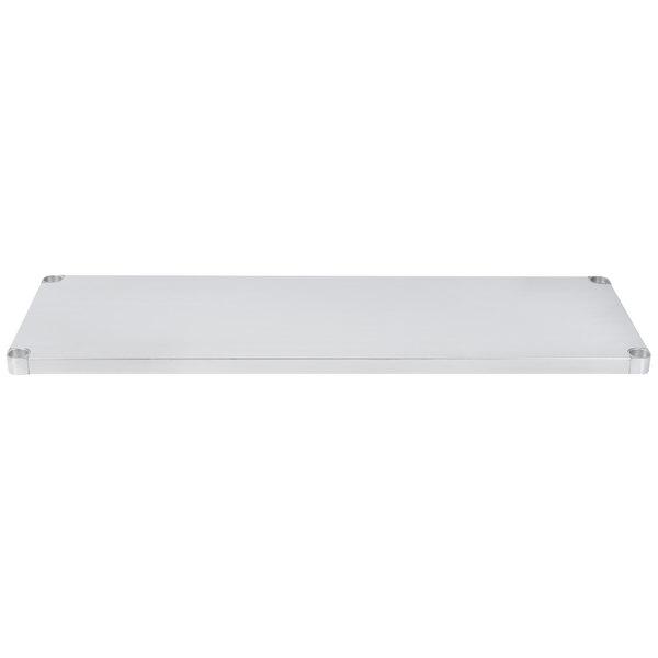 """Regency Adjustable Stainless Steel Work Table Undershelf for 24"""" x 60"""" Tables - 18 Gauge"""