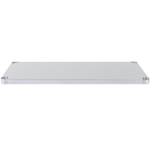 """Regency Adjustable Stainless Steel Work Table Undershelf for 24"""" x 48"""" Tables - 18 Gauge"""