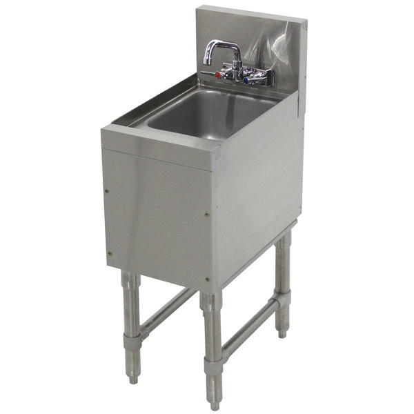 "Advance Tabco PRHS-19-18 Prestige Series Stainless Steel Underbar Hand Sink - 20"" x 18"" Main Image 1"
