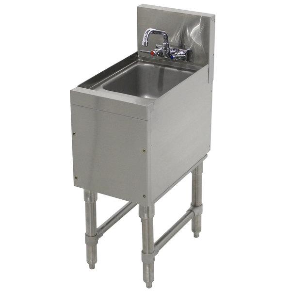 "Advance Tabco PRHS-19-12 Prestige Series Stainless Steel Underbar Hand Sink - 20"" x 12"" Main Image 1"