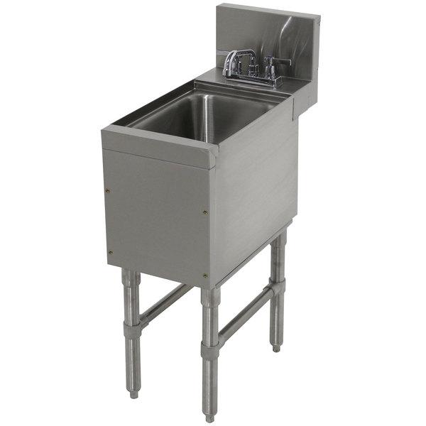 "Advance Tabco PRHS-24-12 Prestige Series Stainless Steel Underbar Hand Sink - 25"" x 12"" Main Image 1"