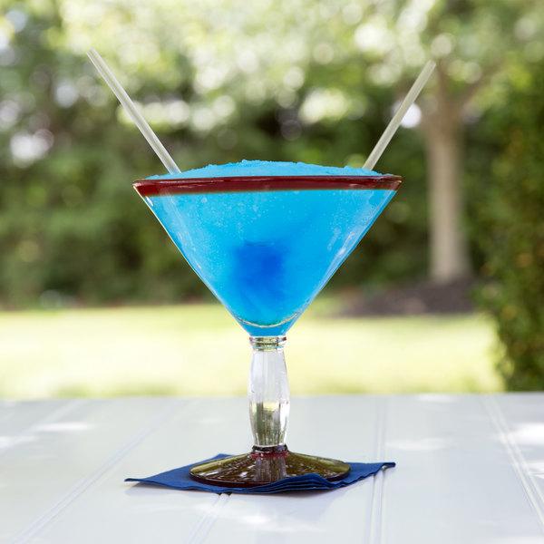 Libbey 92307R Aruba 24 oz. Martini Glass with Red Rim and Base - 12/Case