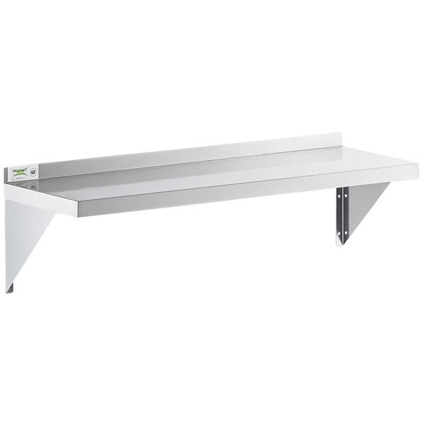 """Regency 16 Gauge Stainless Steel 12"""" x 48"""" Heavy Duty Solid Wall Shelf Main Image 1"""