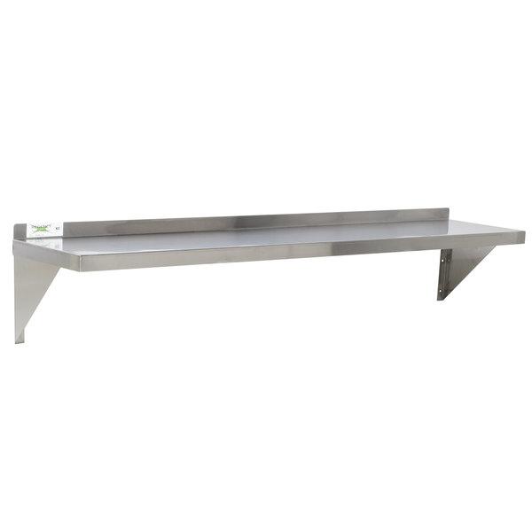 """Regency 16 Gauge Stainless Steel 12"""" x 48"""" Heavy Duty Solid Wall Shelf"""