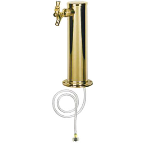 "Micro Matic D4743T-PVD PVD Brass 1 Tap Tower - 3"" Column"