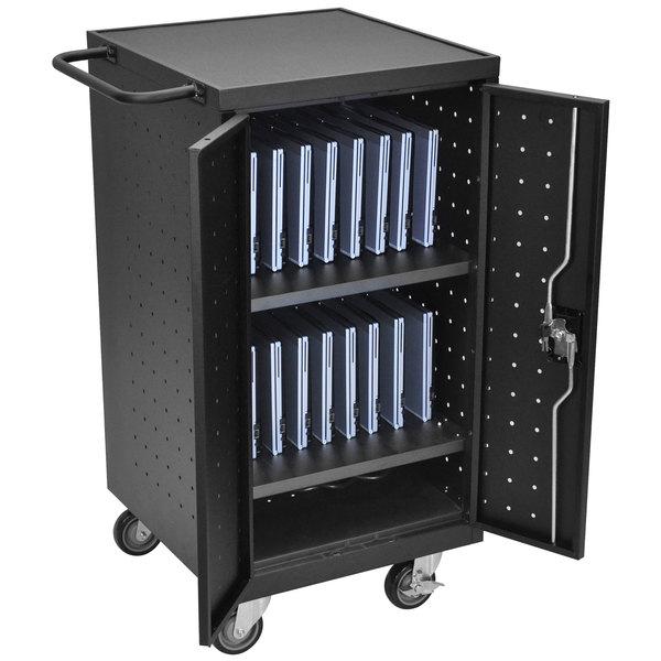 Luxor LLTP18-B 18 Tablet / Laptop Charging Station and Storage Cart