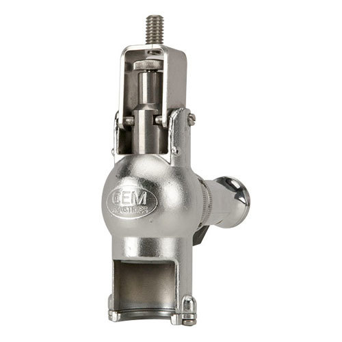 Micro Matic GR-F Type 316 Stainless Steel Beer Growler Filler with Stainless Steel Lever - Matte Stainless Steel Finish Main Image 1