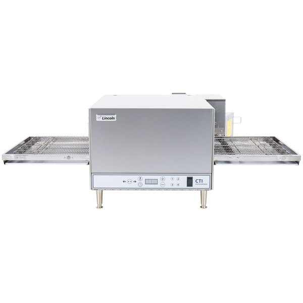 """Lincoln 2501-4/1346 50"""" Digital Countertop Impinger Conveyorized Ventless Electric Oven with Push-Button Controls - 208V, 6 kW"""