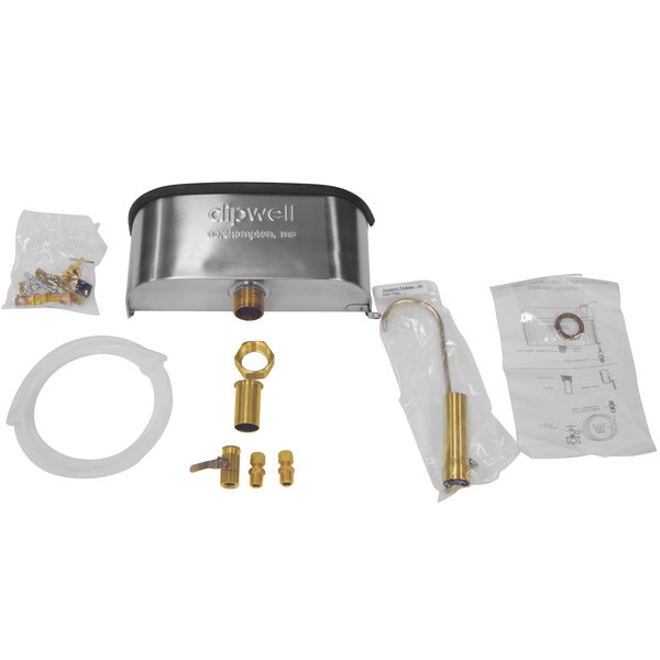 """Master-Bilt A060-20400 10"""" Dipper Well and Faucet Set with Installation Kit Main Image 1"""