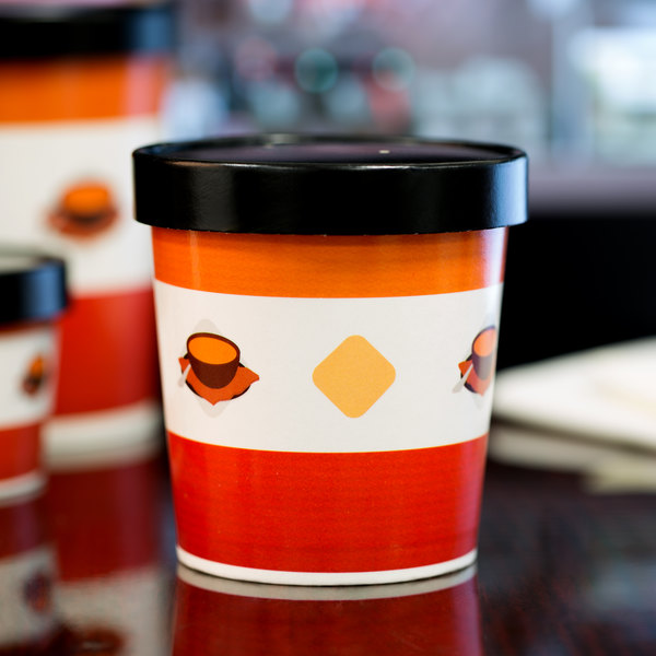Choice 16 oz. Double Poly-Coated Paper Soup / Hot Food Cup with Vented Paper Lid - 250/Case