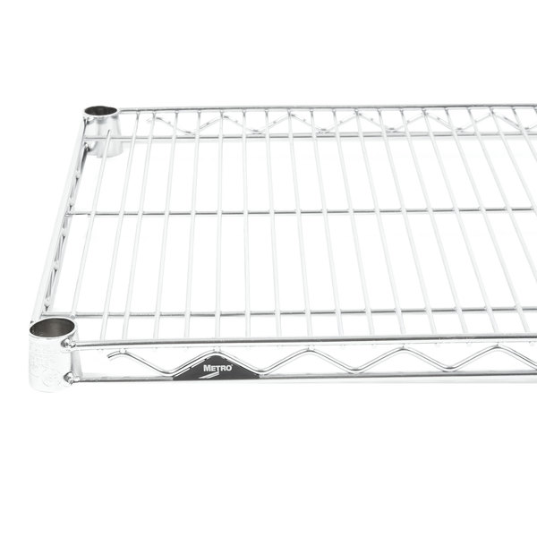 "Metro 1872NS Super Erecta Stainless Steel Wire Shelf - 18"" x 72"" Main Image 1"