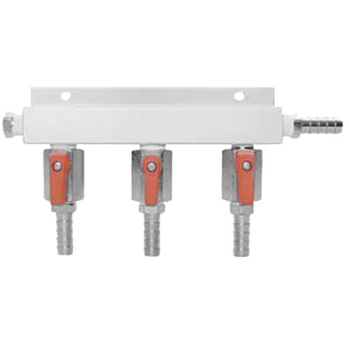 Micro Matic 751-018 Aluminum 3-Way Beer Gas Distributor Main Image 1