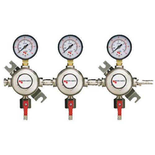 Micro Matic 1163 Triple Gauge Premium Series Secondary CO2 Low-Pressure Regulator