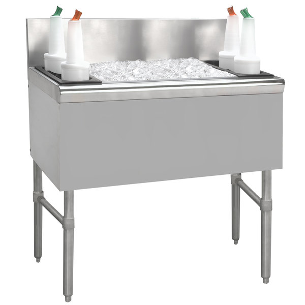 "Advance Tabco PRI-24-42 Prestige Series Stainless Steel Underbar Ice Bin - 25"" x 42"" Main Image 1"