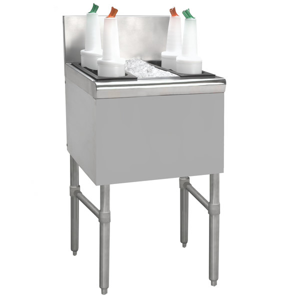 "Advance Tabco PRI-24-12 Prestige Series Stainless Steel Underbar Ice Bin - 25"" x 12"" Main Image 1"