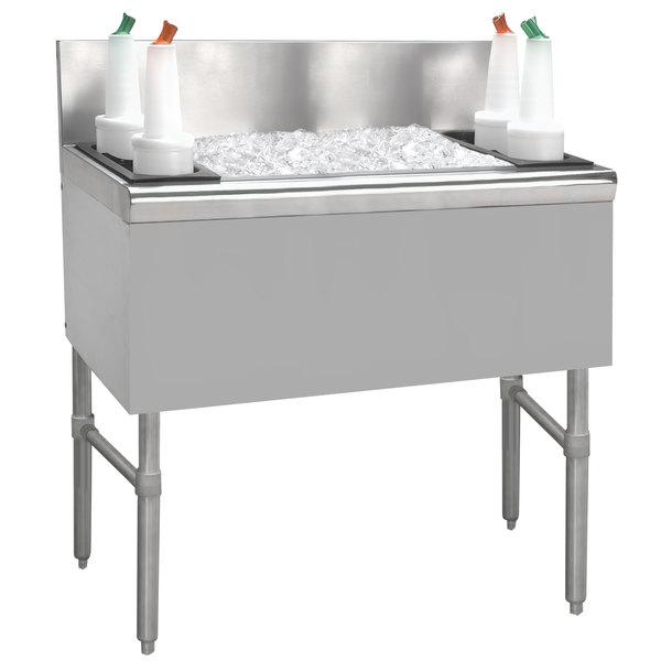 "Advance Tabco PRI-24-48 Prestige Series Stainless Steel Underbar Ice Bin - 25"" x 48"" Main Image 1"