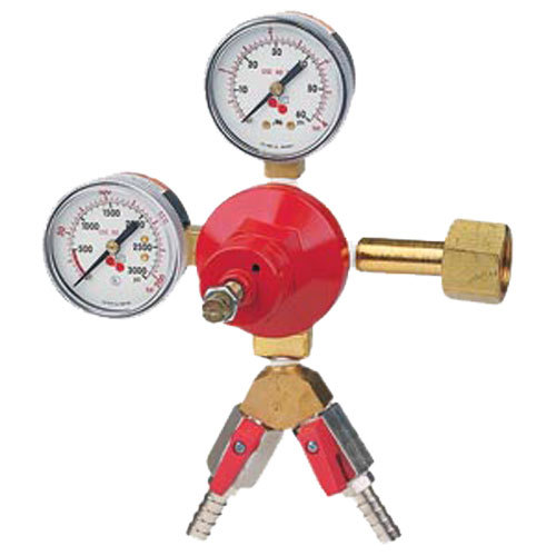 Micro Matic 842-2 Economy Series Double Gauge Primary CO2 Low-Pressure Regulator with 2 Shut-Offs