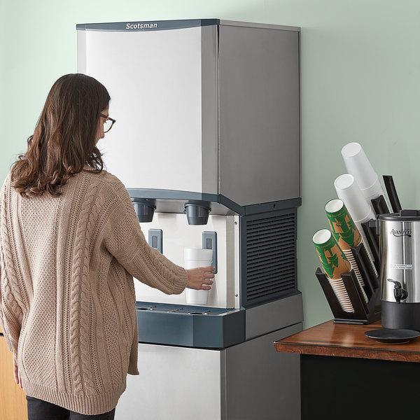 Scotsman HID540W-1 Meridian Countertop Water Cooled Ice Machine and Water Dispenser - 40 lb. Bin Storage Main Image 5