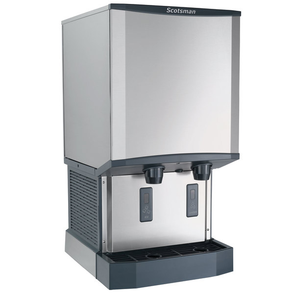 Scotsman HID540W-1 Meridian Countertop Water Cooled Ice Machine and Water Dispenser - 40 lb. Bin Storage