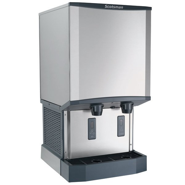Scotsman HID540W-1A Meridian Countertop Water Cooled Ice Machine and Water Dispenser - 40 lb. Bin Storage