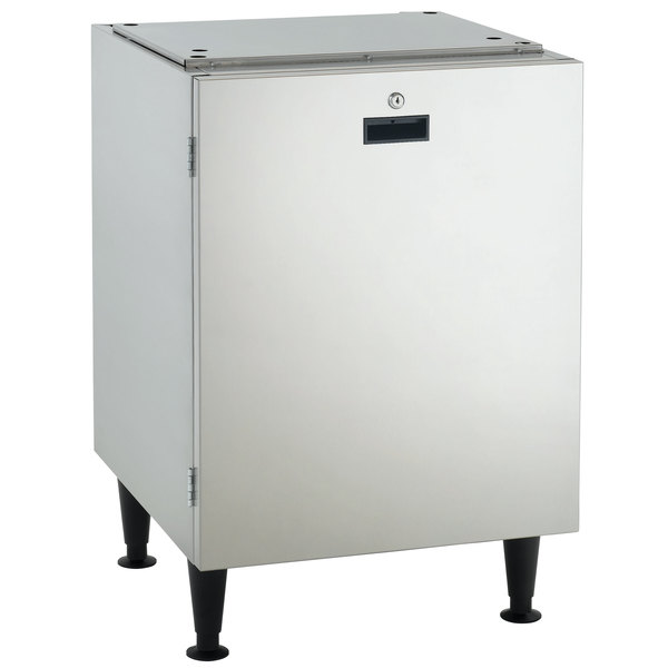 "Scotsman HST21-A 21 1/2"" x 23 3/4"" Enclosed Stainless Steel Ice Dispenser Stand with Door"