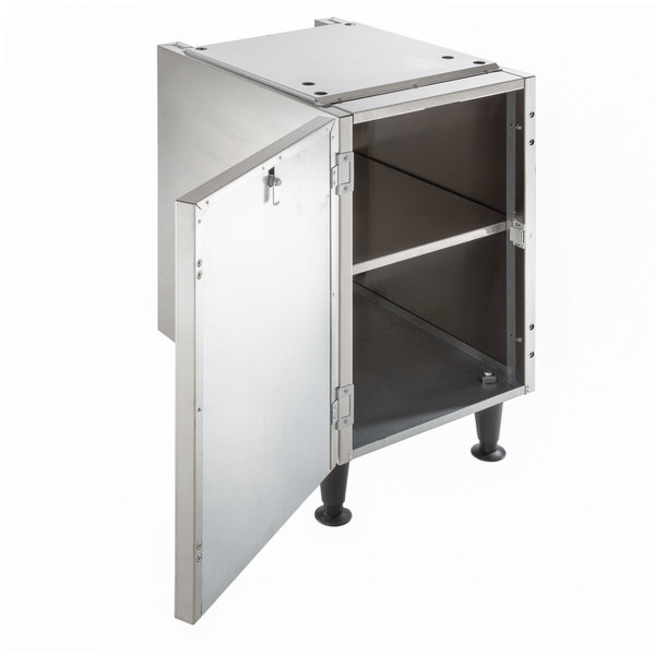 """Scotsman HST16-A 16 1/2"""" x 23 3/4"""" Enclosed Stainless Steel Ice Dispenser Stand with Door Main Image 3"""