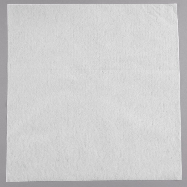 Touchstone by Choice 14 inch x 14 inch White Linen-Feel Flat-Packed Dinner Napkin  - 1000/Case