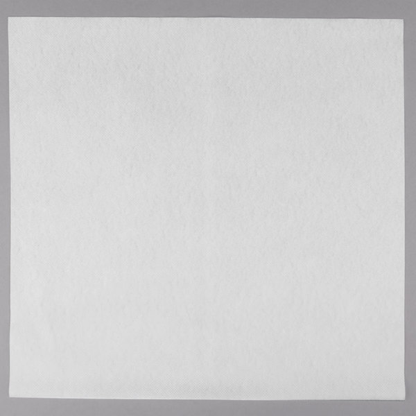 Touchstone by Choice 16 inch x 15 inch White Linen-Feel Flat-Packed Dinner Napkin  - 500/Case