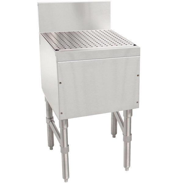 "Advance Tabco PRD-19-24 Prestige Series Stainless Steel Free-Standing Bar Drainboard - 24"" x 20"""