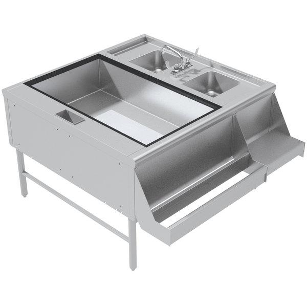 Advance Tabco PR-42X30-10-L Prestige Series Stainless Steel Pass-Through Workstation - (Left Side Ice Bin)