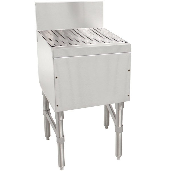 """Advance Tabco PRD-19-18 Prestige Series Stainless Steel Free-Standing Bar Drainboard - 18"""" x 20"""" Main Image 1"""