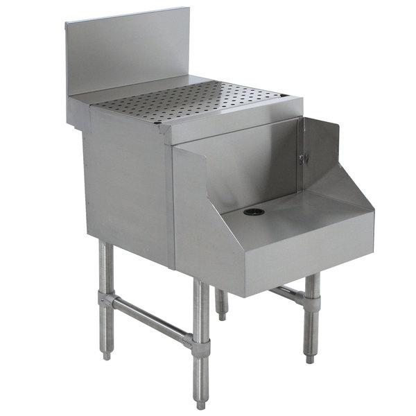 "Advance Tabco PRDB-24-12 Prestige Series Stainless Steel Underbar Blender Station with Drainboard - 12"" x 30"""
