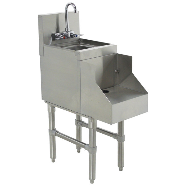 """Advance Tabco PRRS-19-18 Prestige Series Stainless Steel Underbar Blender Station with Sink - 18"""" x 25"""""""