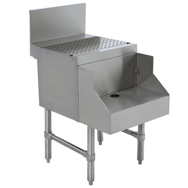 """Advance Tabco PRDB-24-18 Prestige Series Stainless Steel Underbar Blender Station with Drainboard - 18"""" x 30"""" Main Image 1"""