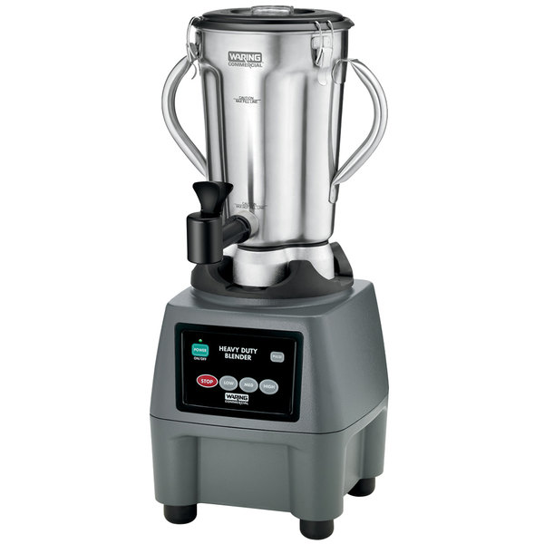 Waring CB15SF 1 Gallon Stainless Steel Food Blender with Spigot Main Image 1