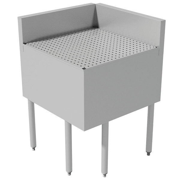 "Advance Tabco PRFD-2525 25"" x 25"" Prestige Series Stainless Steel Underbar Drainboard Filler - 90 Degree Angle Main Image 1"