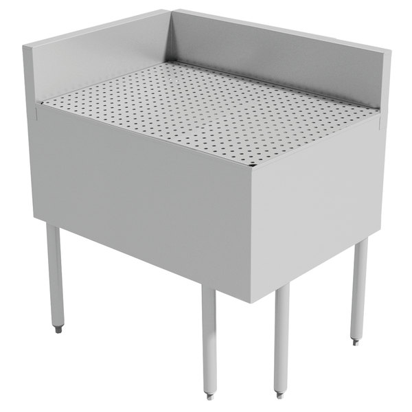 "Advance Tabco PRFD-3520 35"" x 20"" Prestige Series Stainless Steel Underbar Drainboard Filler - 90 Degree Angle Main Image 1"