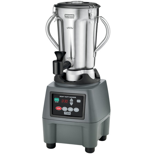 Waring CB15TSF 1 Gallon Stainless Steel Food Blender with Timer and Spigot Main Image 1